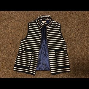 Francesca's Collection Blue striped vest